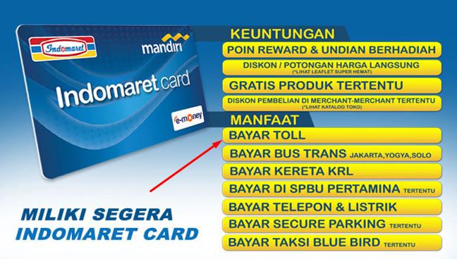 cara beli kartu e-toll di Indomaret