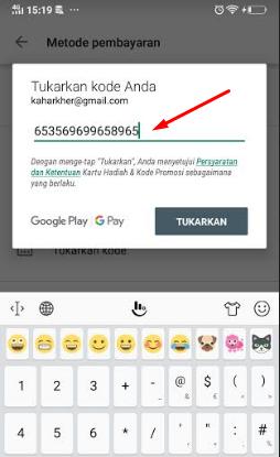 cara tukarkan kode voucher google play untuk beli aplikasi game atau diamond