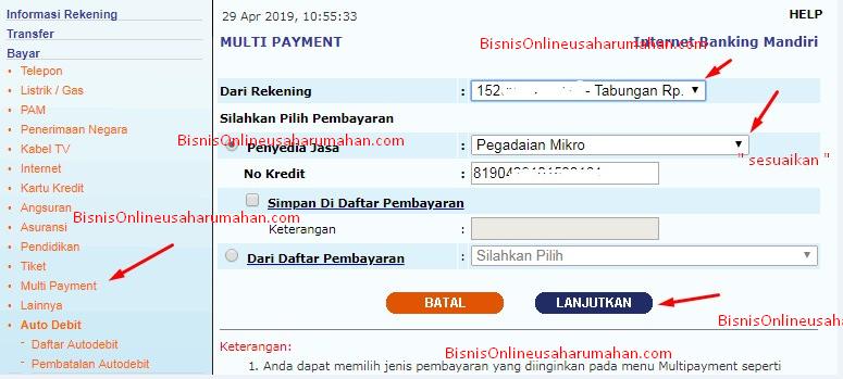 cara bayar angsuran pegadaian lewat aplikasi pegadaian digital