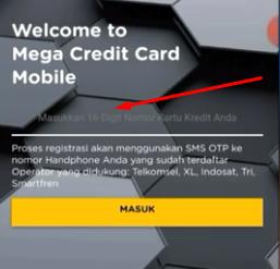 cara cek tagihan kartu kredit bank mega lewat aplikasi mega credit card mobile