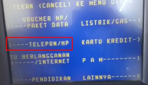 cara pembayaran indihome via ATM