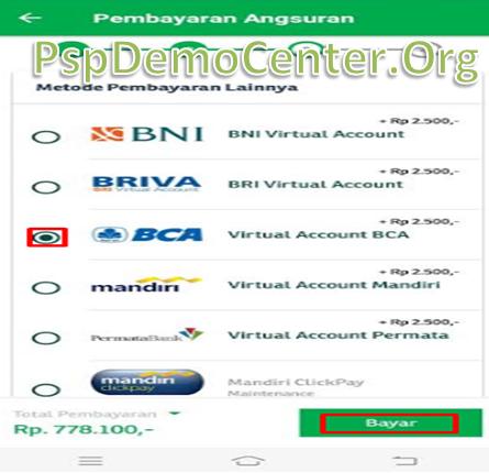 Cara bayar cicilan pegadaian lewat mobile banking bca