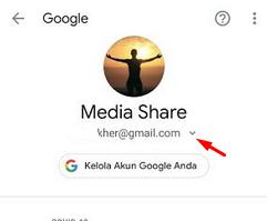 pilih tanda p[anah ke bawah untuk lihat email lain