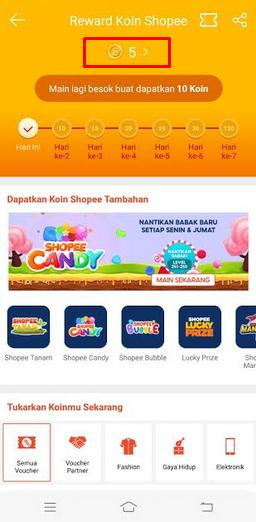 cara mendapatkan shopeepay gratis dengan mengumpulkan koin shopee