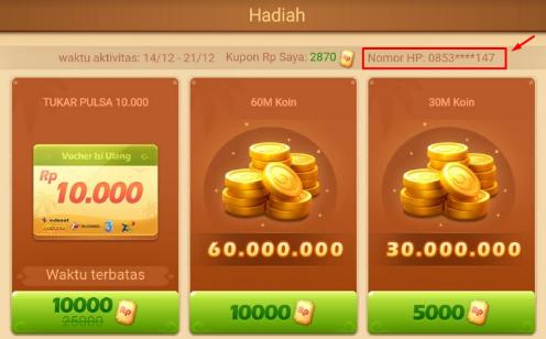 Cara Mengganti Nomor HP Di Game Higgs Domino Island