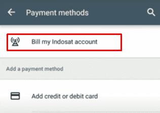 Bill my Indosat account